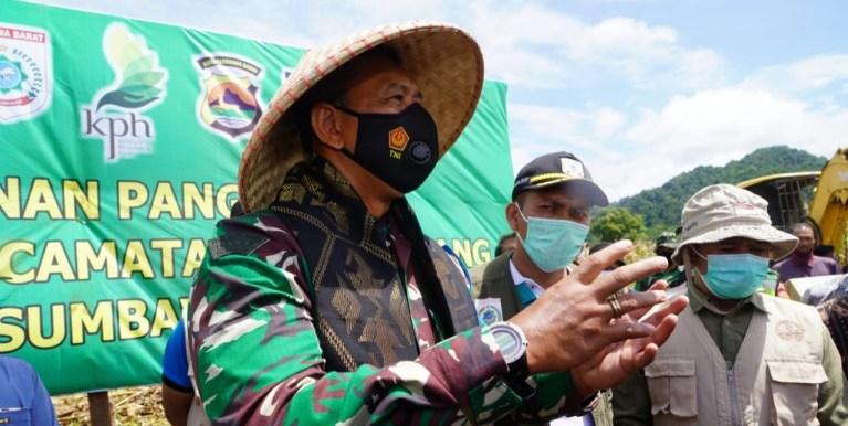 Dukung Ketahanan Pangan Di KSB, Danrem 162/WB Siapkan Lahan 150 Hektar