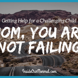 Mom You are Not Failing, getting help your challenging child InsideOurNormal