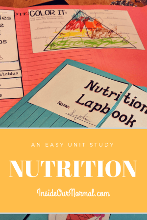 Food Group and Nutrition Unit Study InsideOurNormal.com