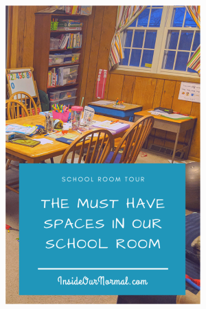 Tour our School Room- the must-have spaces in our homeschool space - InsideOurNOrmal.com
