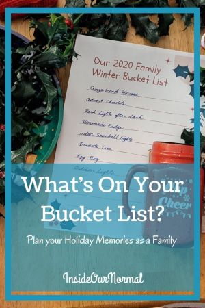 What's On Your HOliday Bucket List? InsideOurNormal.com