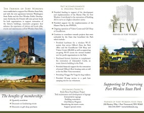 Friends of Fort Worden trifold