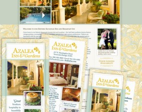 Azalea Inn & Gardens web & print design