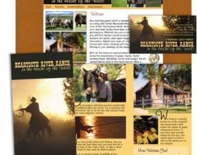 Beartooth River Ranch web & print design