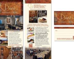David's Restaurant and Lounge print design