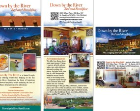 Down By The River Bed and Breakfast print design
