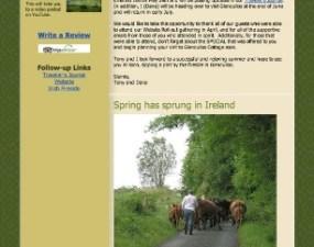 Glenculloo Cottage - e-newsletter