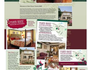 Fisher House Victorian Bed and Breakfast web & print design