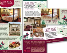 Fisher House Victoria Bed and Breakfast - print marketing