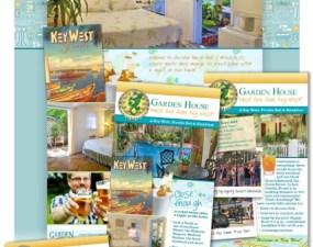 Garden House web & print design