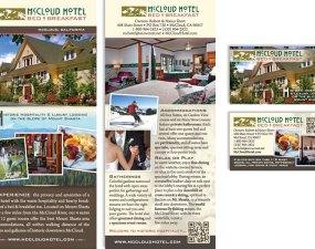 McCloud Hotel Bed & Breakfast - print marketing