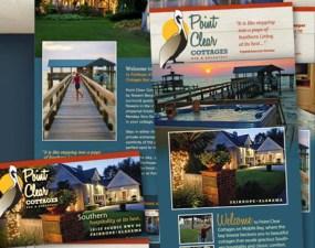 Pint Clear Cottages print design