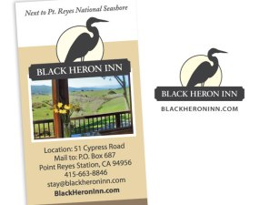 Black Heron Inn logo design