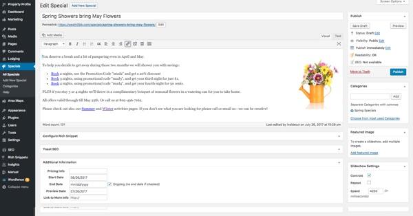 Custom Responsive WordPress Web Design for West Hill House B&B