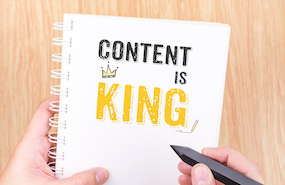 Content Is King photo-illustration