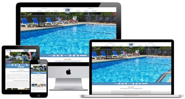 Hotel Website Design for Lodge at Turbats Creek