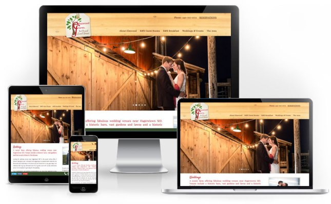 Elmwood Farm B&B tourism website design