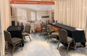 InsideOut Solution's booth at the 2018 AIHP Knowledge Sharing Summit and Marketplace