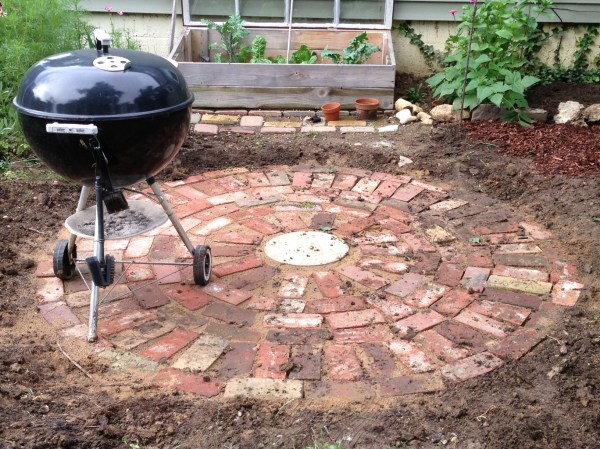 Patio Made with Old Bricks