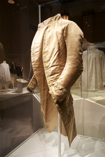 Silk satin coat, 18th century