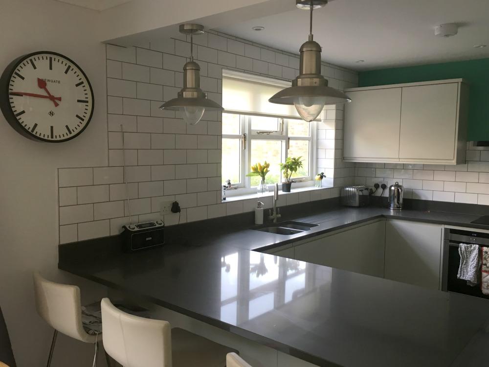clutter free white kitchen