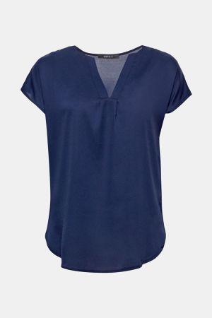 Esprit v-neck blouse navy