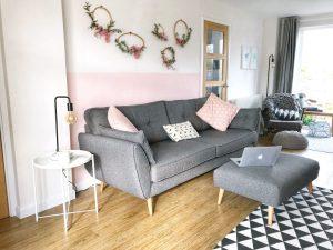 Zinc DFS 4-seater sofa