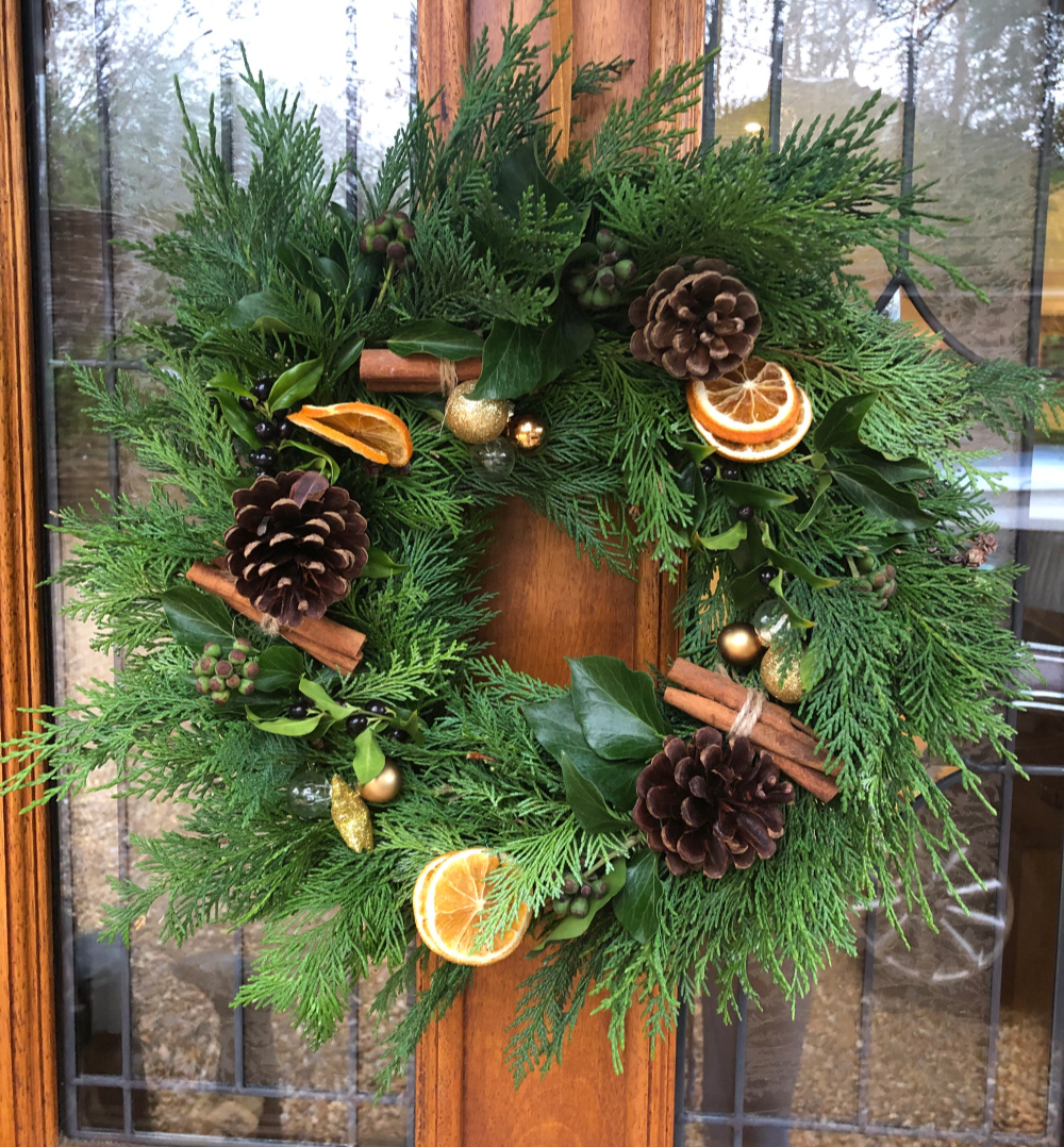homemade christmas door wreath