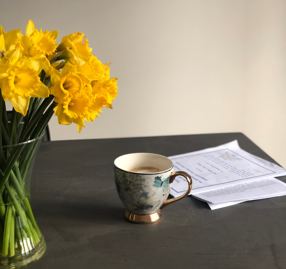 Daffodils on the table