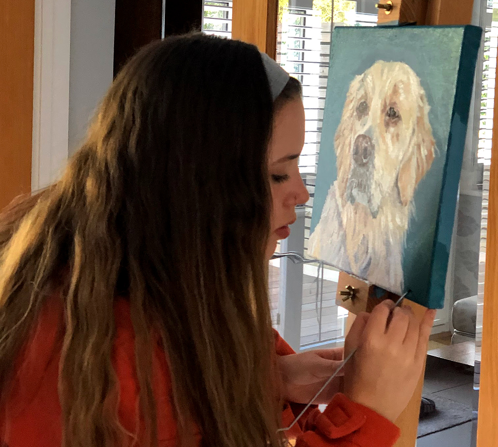 Painting pet portraits