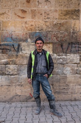 Portrait of a man from Gaziantep, by Mieke Strand