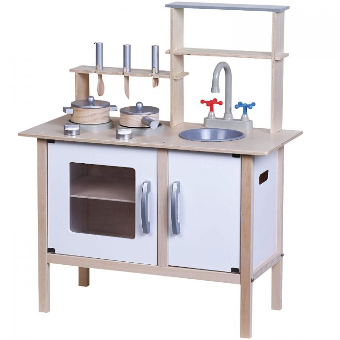 wooden toy kitchen hgtv remodels kids children cooking role play pretend set gift details about learning
