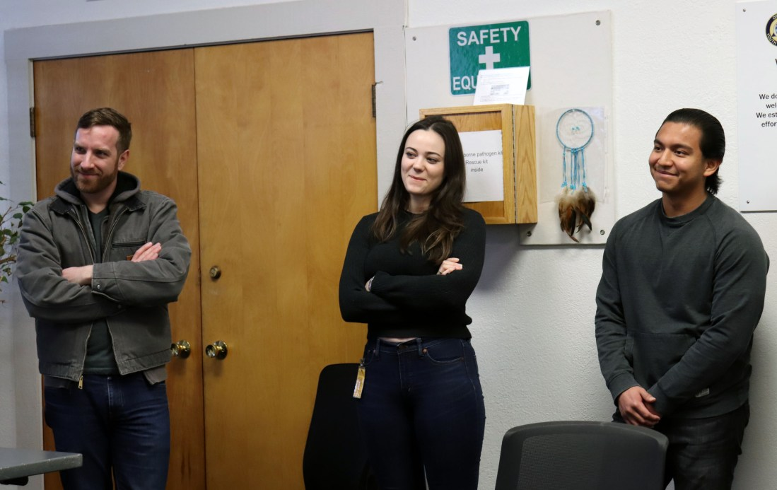 Three students participate in a recent Lewis & Clark Law School class at MacLaren Youth Correctional Facility.
