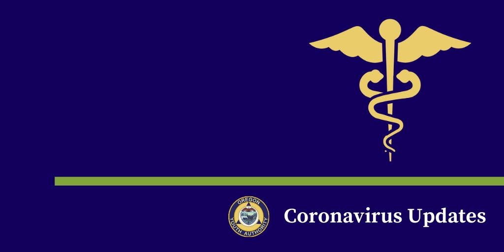 Coronavirus updates - with OYA logo and caduceus