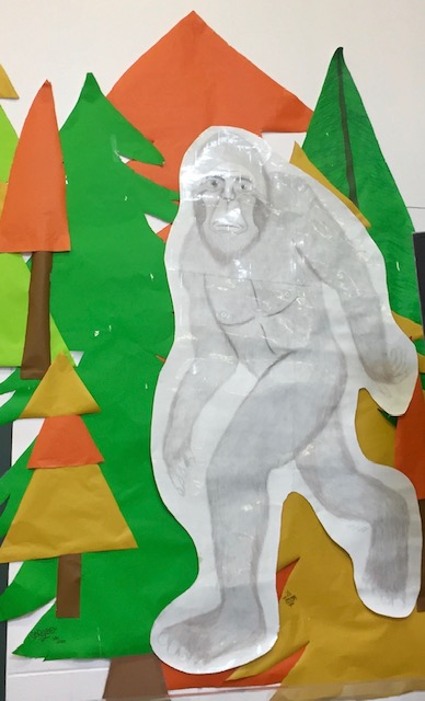 Bigfoot picture on a wall