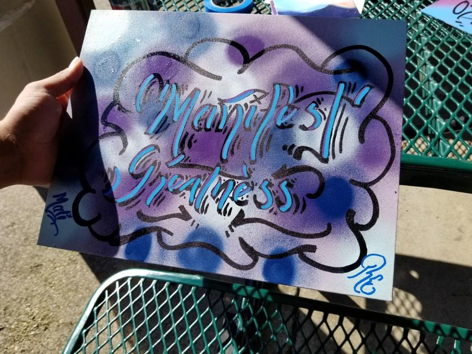 """Manifest Greatness"" artwork"