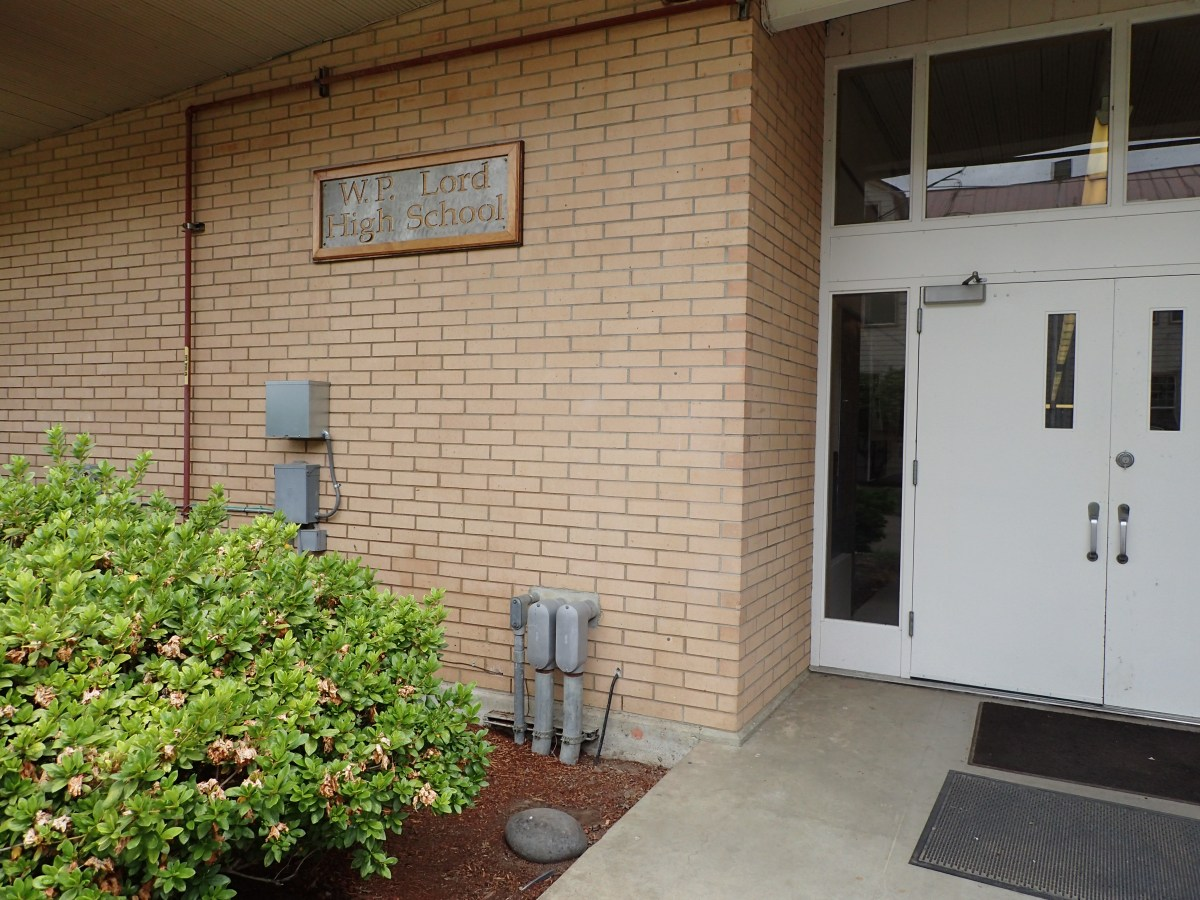 Entry to William P. Lord High School