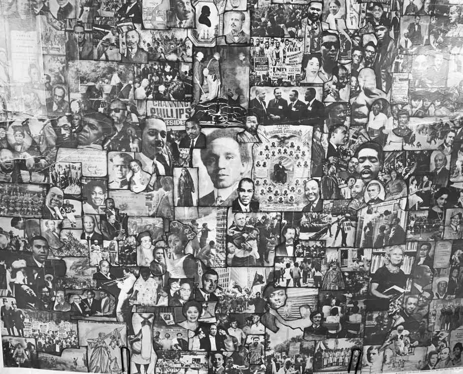 A collage showing images of numerous Black people.