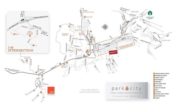 Printable Park City, Utah Maps - Old Town & Park City Area