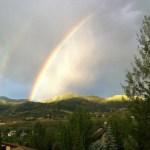 Double Rainbow in Jeremy Ranch