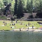 Picnic-Goers Enjoying the Deer Valley Ponds