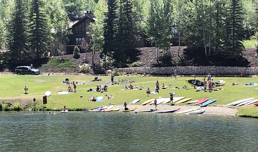Picnic-Goers Enjoying the Deer Valley Ponds