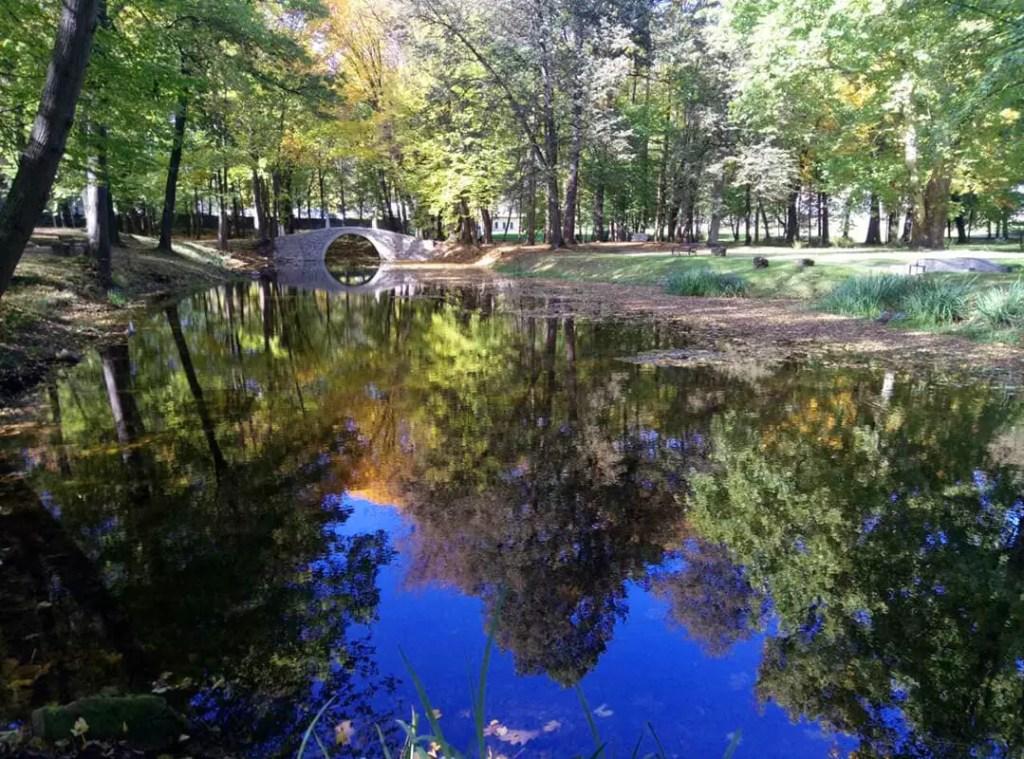 Парк в Suchej Bezkidzkiej