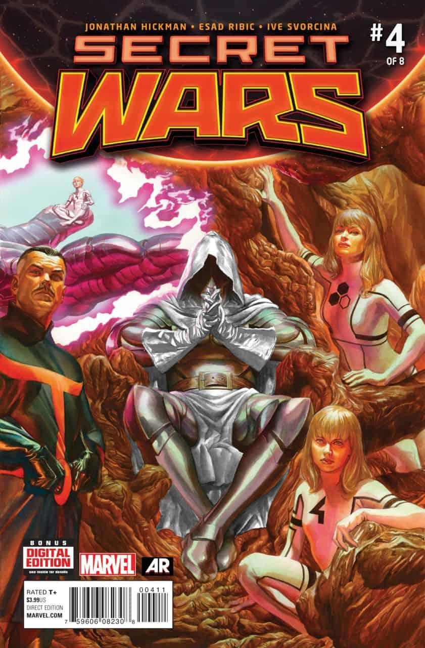 Marvel Comics Review  Spoilers Secret Wars 4 By Jonathan Hickman Esad Ribic Ive Svorcina