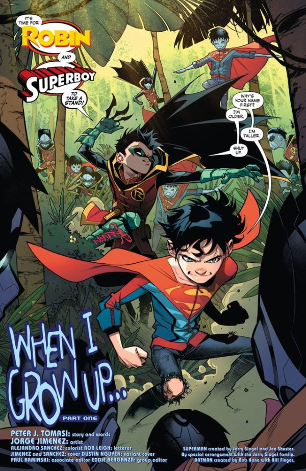 DC Comics Rebirth Spoilers Super Sons 1 Brings Superman  Batmans Sons Together Via Preview