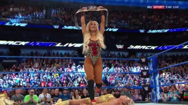 Image result for Carmella becomes champion