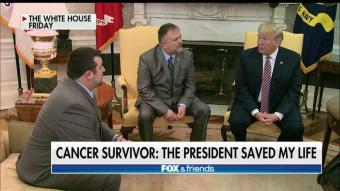 Cancer Survivor Says President Trump's $10K Donation Saved His Life
