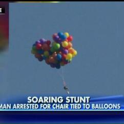 Chair With Balloons Vision Ergonomic Cops Were Not Impressed This Guy S Lawn Balloon Ride Crazy Video