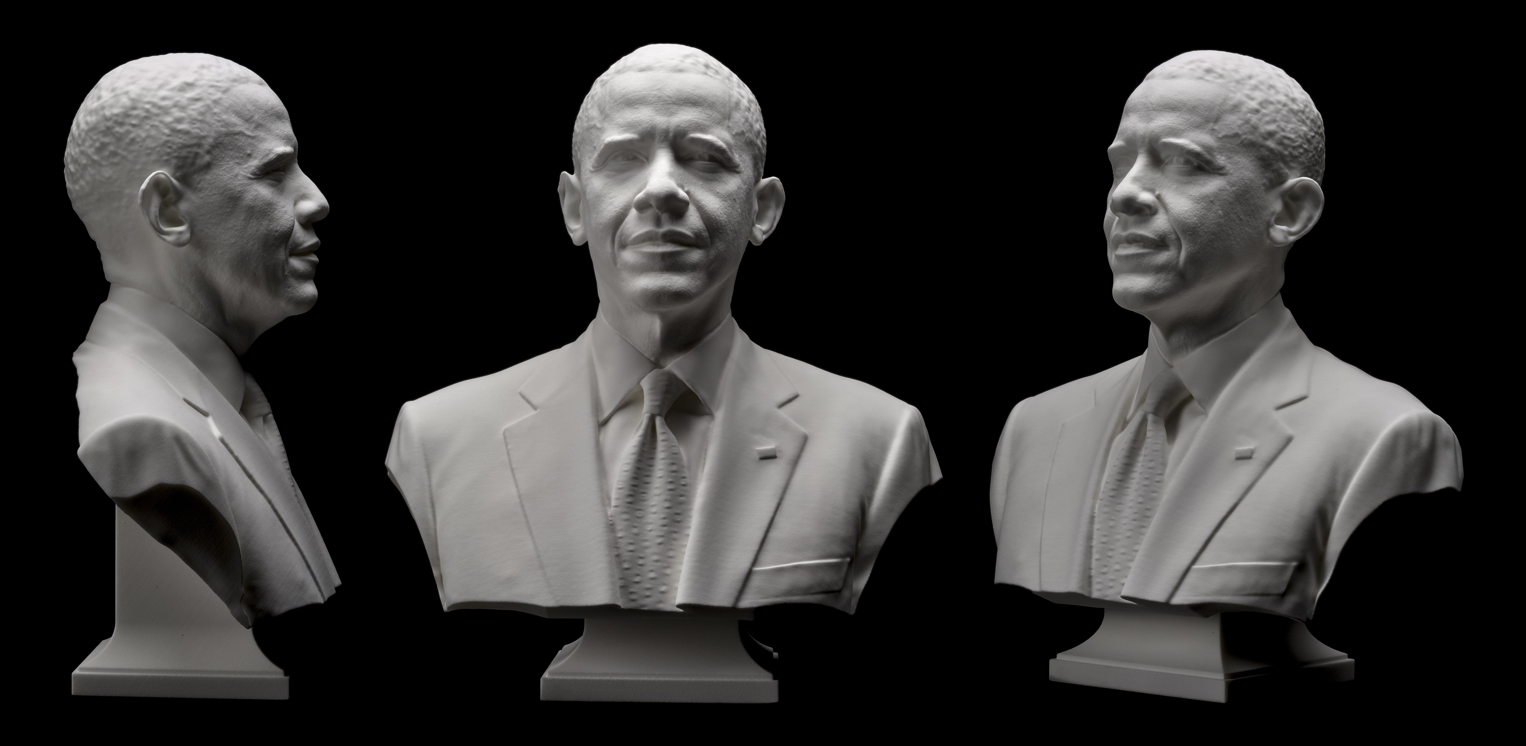 3D portrait of President Obama  Smithsonian Insider