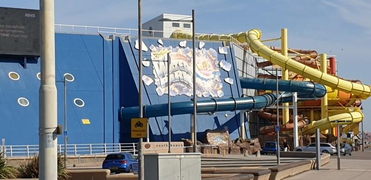 Blackpool when it rains - sandcastle